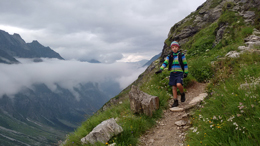 7 year old Callum in the Zillertal Alps.