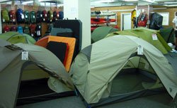 Bogong tent showroom