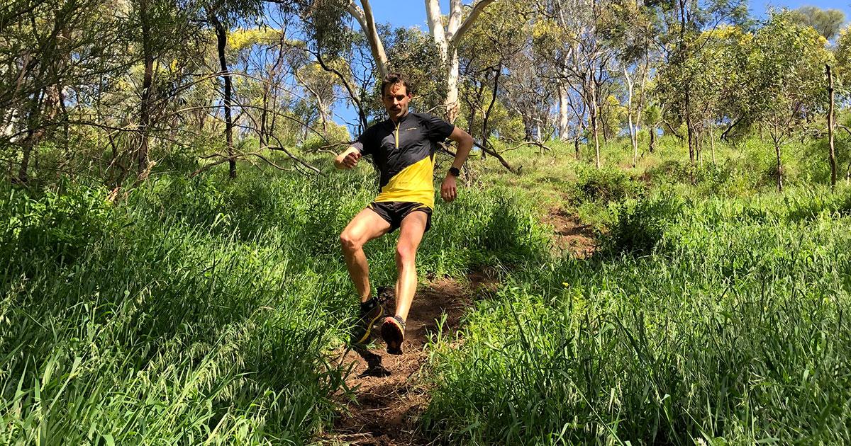 Matt Crehan in the La Sportiva Jackal on his local trails