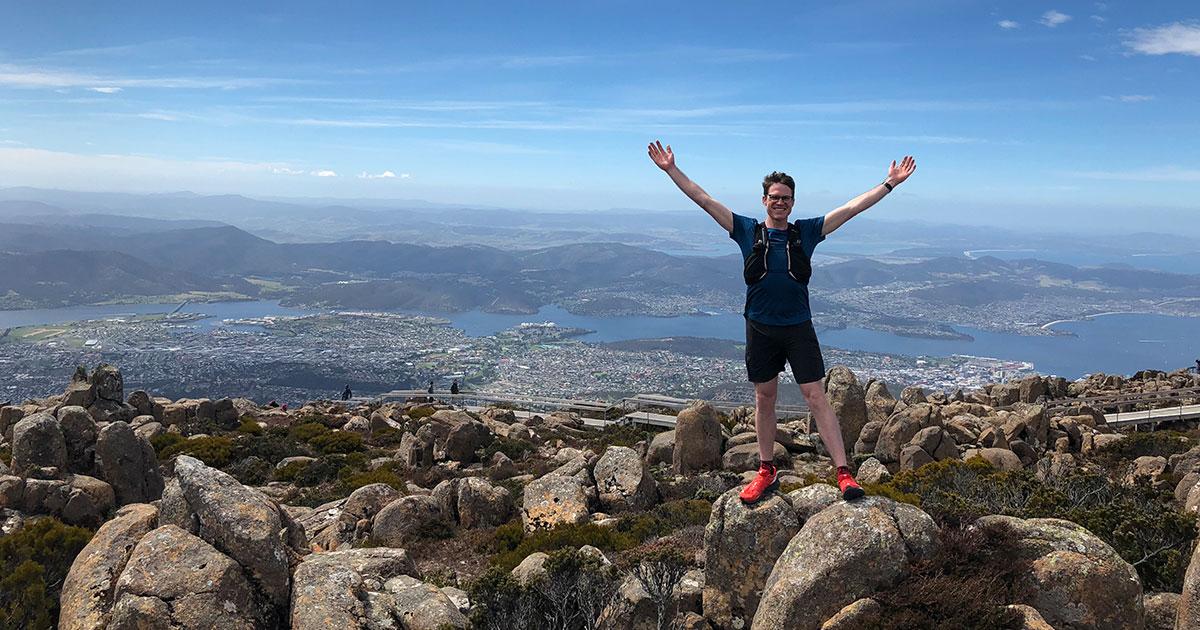 Sam in Tasmania