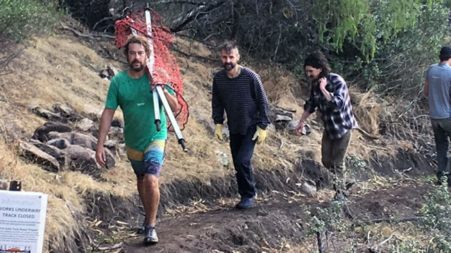 Trackwork volunteers in Central Gully