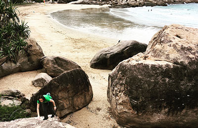 Magnetic Island bouldering