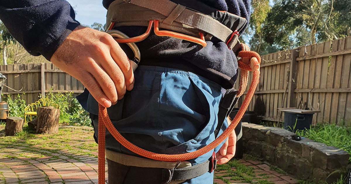 Petzl Connect Adjust on harness photo