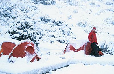 Snow camping in Australia