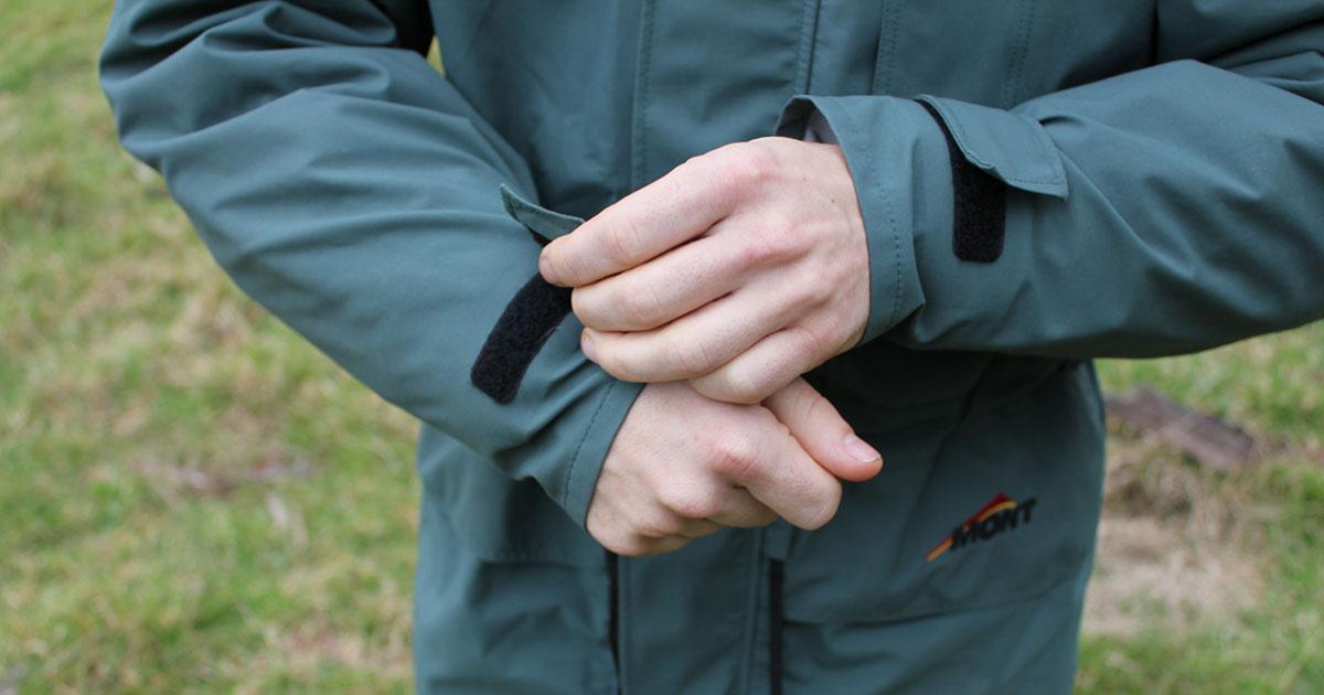 Mont Austral rain jacket sleeves