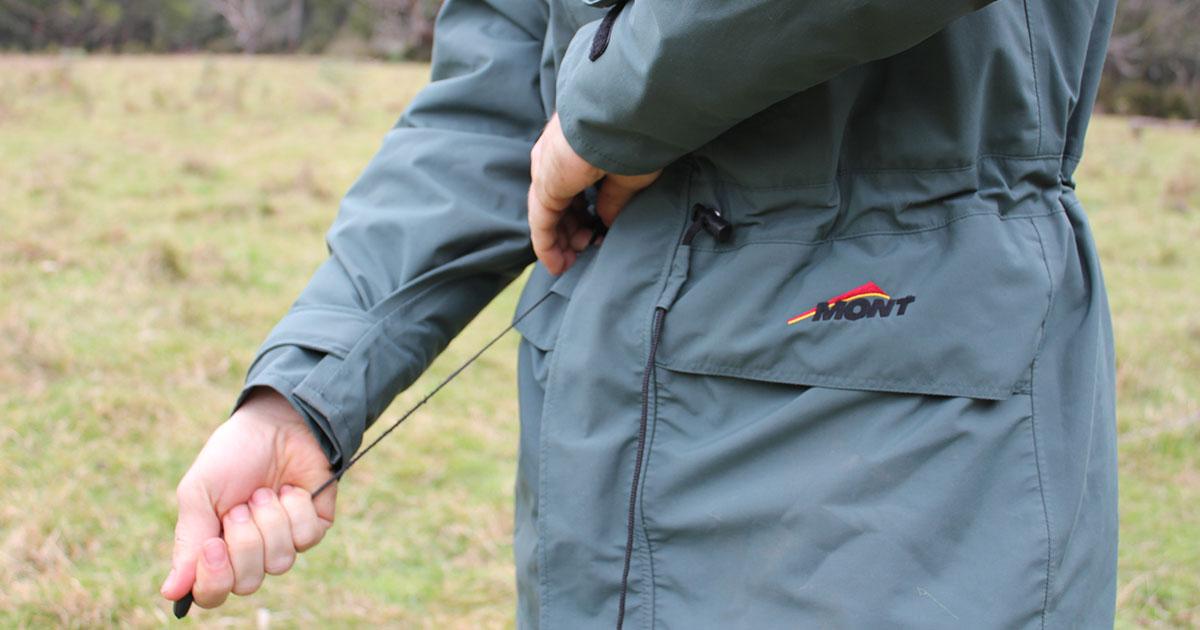 Mont Austral rain jacket waist cinch