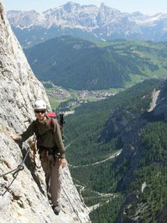 Via Ferrata Brigata Tridentina Dolomites. Grade 3B
