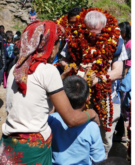 School garland parade