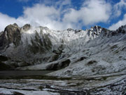 Vanoise National Park. Snow can fall at any time of year. This photo was taken in August